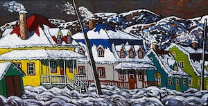 Artwork by Jacques Tremblay, Baie St-Paul