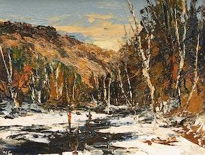 Artwork by Wilf Frank Griffiths , Oblong River, Haliburton