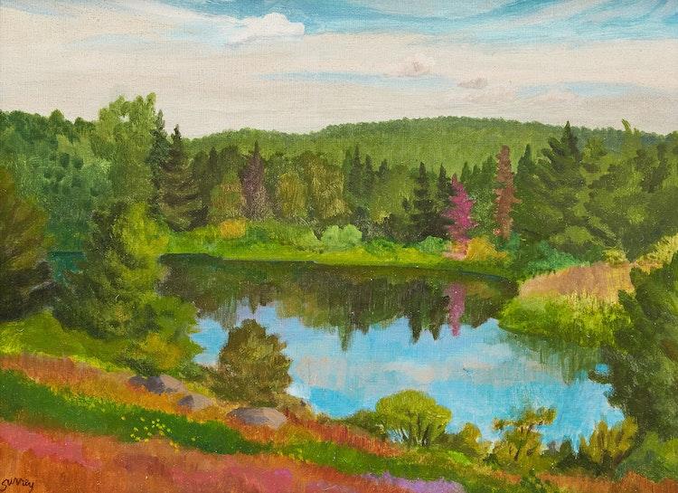 Artwork by Philip Henry Howard Surrey,  Petit étang près de Lac Malaga