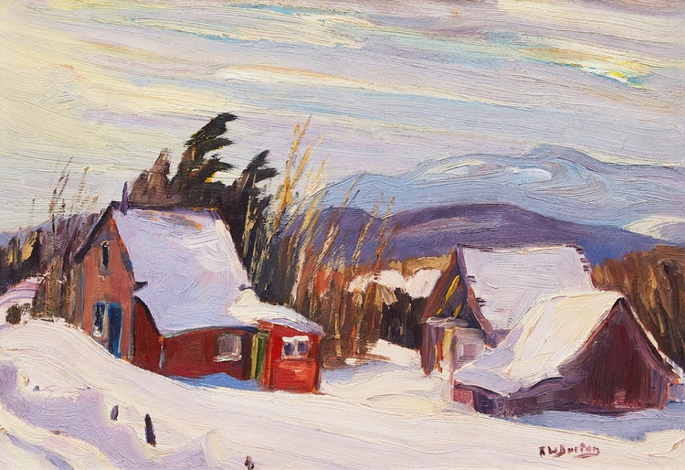 Artwork by Ralph Wallace Burton,  Cantley, Quebec; From the Head of MacGregor