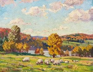 Artwork by Herbert Sidney Palmer, Gaeverau's Lake, Quebec