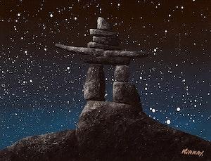 Artwork by Ken Kirkby, Inukshuk