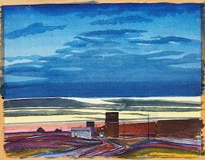 Artwork by Robert N. Hurley, Nocturne