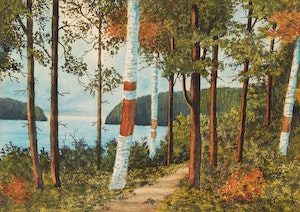 Artwork by W.T. Wood, Pathway Through the Trees