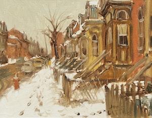 Artwork by John Geoffrey Caruthers Little, Dimanche matin, rue de Bullion, Montreal