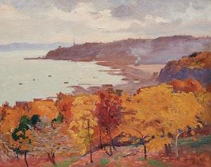 Artwork by Robert Wakeham Pilot, Sillery from the Battlefields, Quebec