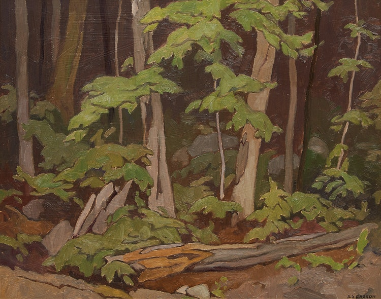 Artwork by Alfred Joseph Casson,  Woodland, Oxtongue