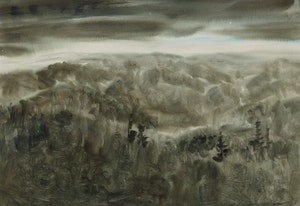 Artwork by Kazuo Nakamura, Darkening Clouds