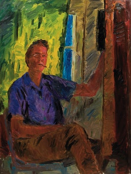 Artwork by William Goodridge Roberts, Self Portrait