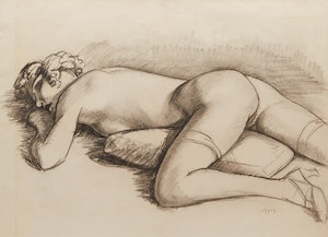 Artwork by John Goodwin Lyman, Nude (circa 1928)