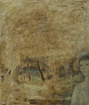 Artwork by Jean Paul Lemieux, Jeune fille en forêt