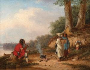 Artwork by Cornelius Krieghoff, Lorette Indians