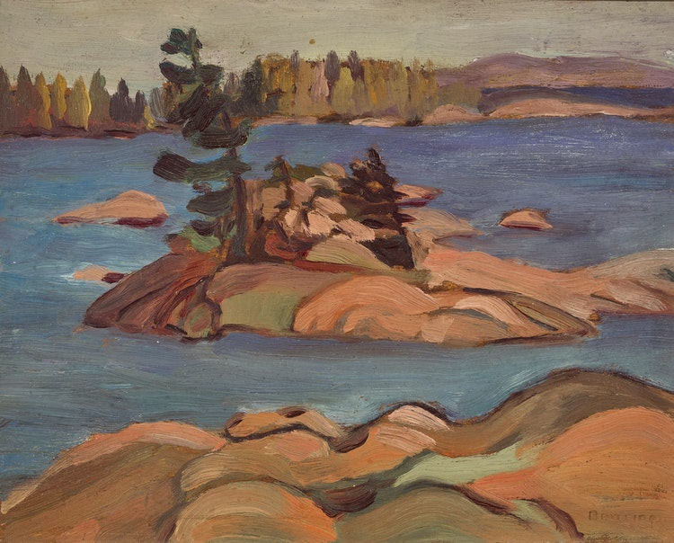 Artwork by Frederick Grant Banting,  Island, French River, Ontario