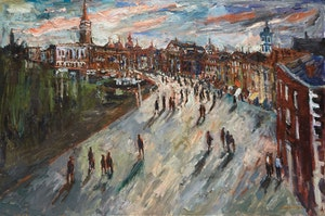 Artwork by Molly Lamb Bobak, Evening in Venice