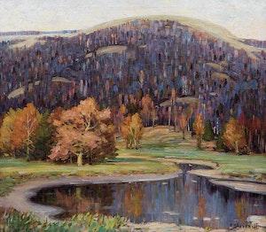 Artwork by Frederick Nicholas Loveroff, Landscape in Autumn