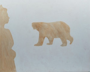 Artwork by Charles Pachter, Queen and Polar Bear