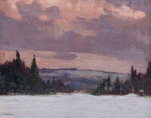 Artwork by John William Beatty, Algonquin Park (circa 1914)
