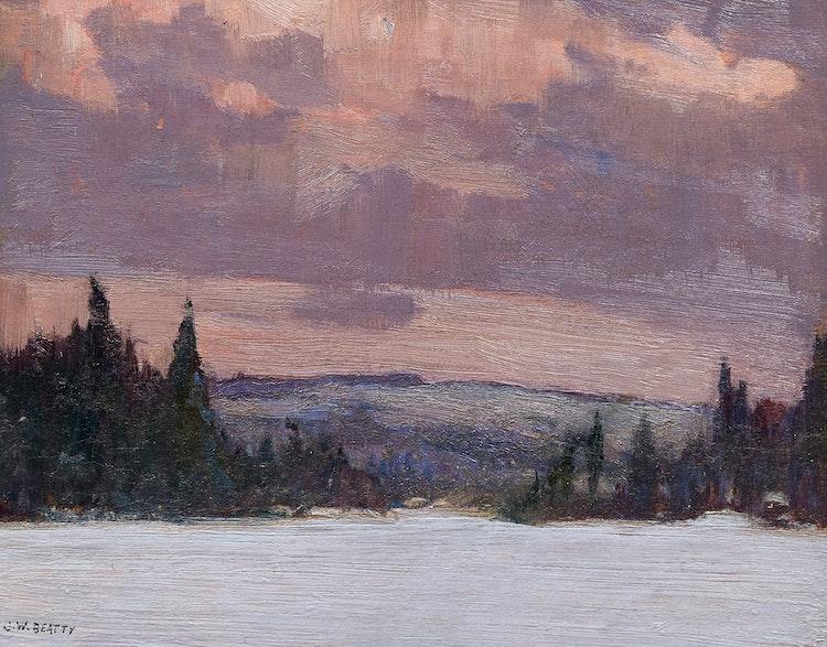 Artwork by John William Beatty,  Algonquin Park (circa 1914)