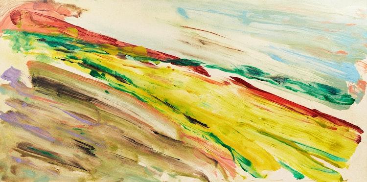 Artwork by Carol Sutton,  Green & Gold