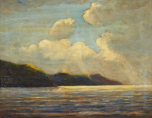 Artwork by Wilfred Molson Barnes, Vancouver Bay (1930)