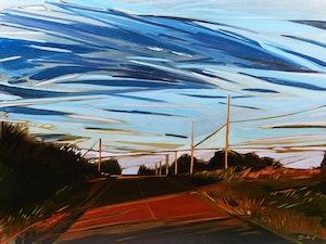 Artwork by Shannon Craig Morphew, Cottage Sky at Dusk