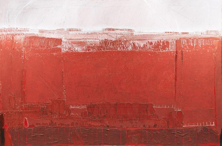 Artwork by Robert Marchessault,  The Red Fields