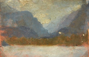 Artwork by Frederic Marlett Bell-Smith, Mountain Landscape