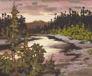 Artwork by Bruno Joseph Bobak, Restigouche Dawn