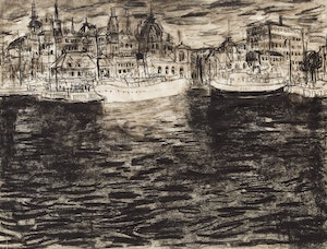Artwork by Molly Lamb Bobak, Untitled (Oslo Harbour)