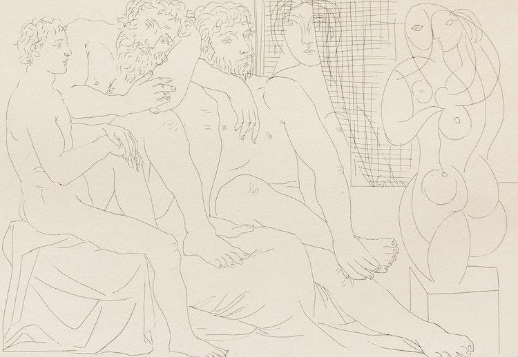 Artwork by Pablo Picasso,  Sculpteurs, modèles et sculpture (Suite Vollard)