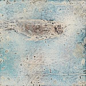 Artwork by Jacques Godefroy de Tonnancour, Fossile #1