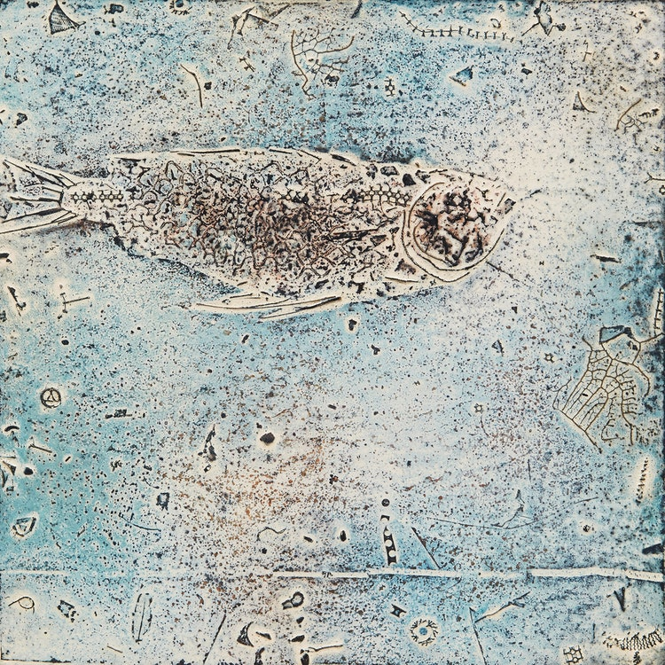 Artwork by Jacques Godefroy de Tonnancour,  Fossile #1