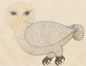 Artwork by Kenojuak Ashevak, Bright Owl