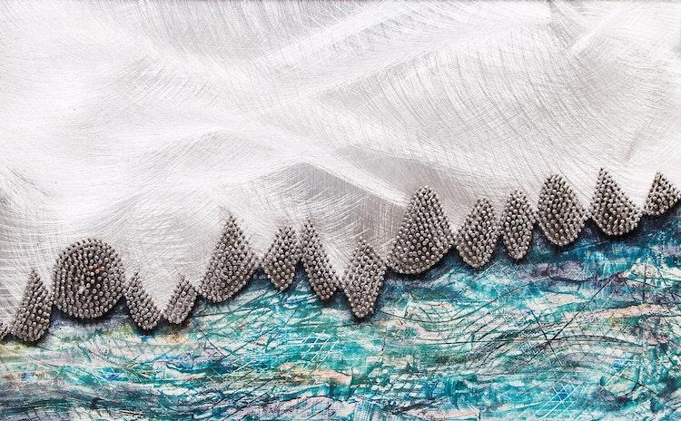 Artwork by David Gerry Partridge,  Barrier Reef #1