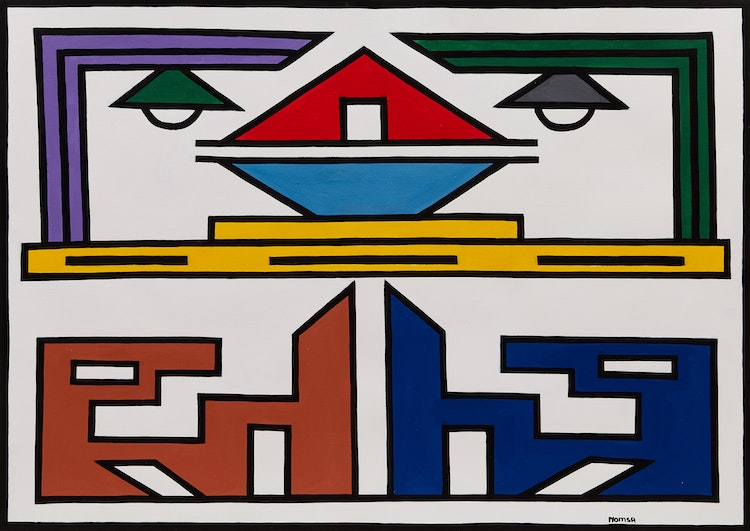 Artwork by  Ndebele Art,  Untitled