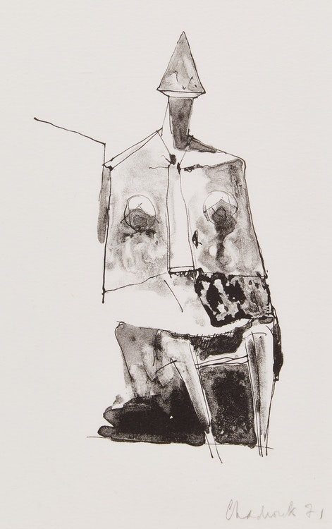 Artwork by Lynn Russell Chadwick,  Seated Figure