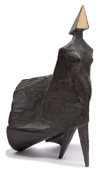 Artwork by Lynn Russell Chadwick, Maquette II Walking Woman