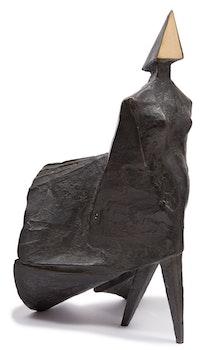 Artwork by Lynn Russell Chadwick, Maquette II Walking Woman