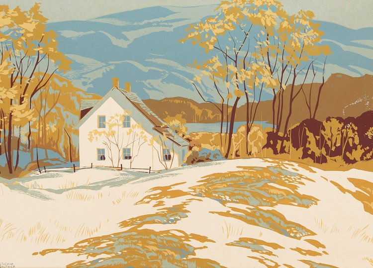 Artwork by Joachim George Gauthier,  Homestead in Winter