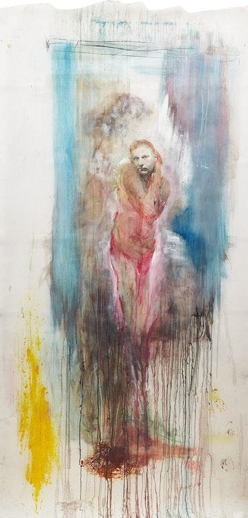 Artwork by Angela Grossmann,  Pink Man