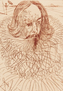 Artwork by Salvador Dalí, Hommage to Cervantes