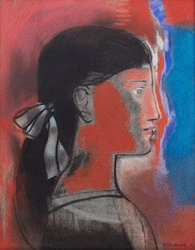 Artwork by Walter Bachinski, Head of Dancer