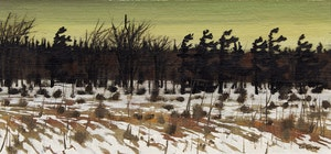 Artwork by Bruno Joseph Bobak, Winter Landscape