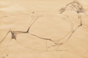 Artwork by Dennis Eugene Norman Burton, Reclining Woman