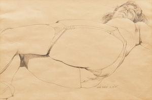 Artwork by Dennis Eugene Norman Burton, Reclining Woman