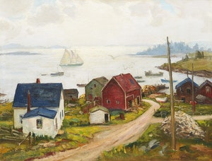 Artwork by Frank Shirley Panabaker, Peggy's Cove