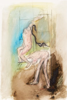 Artwork by Betty Roodish Goodwin, Untitled (Figure/Ladder Series) VII