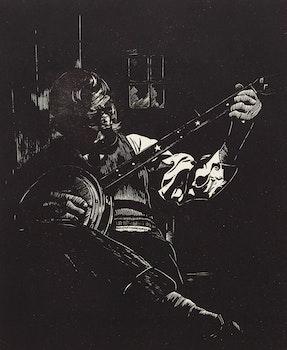 Artwork by Leonard Hutchinson, Plenty o' Nothin'; Black Worker