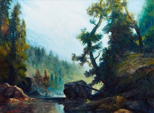 Artwork by H. Lee Chadwick, Morning, Paradise Pool