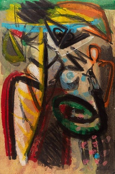 Artwork by Alain Delic, Abstract Composition; Abstracted Figure